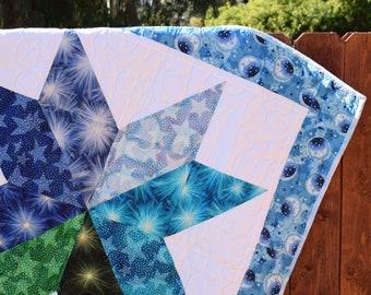 Star Quilt/Blanket - Baby - Toddler - Child - Warm Bedding - Simple - Fun - Tummy Time - Gift