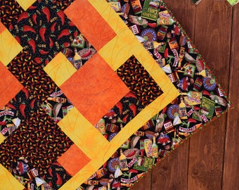 Chili Peppers Patchwork Quilt