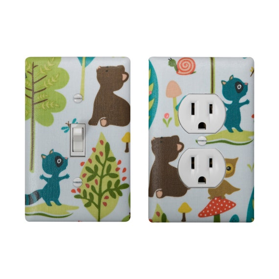 Items Similar To Woodland Animal Light Switch Plate