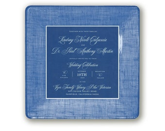 spring wedding gift idea - wedding invitation - decoupage plate - with hanger - personalized - wedding keepsake - for couples - match color