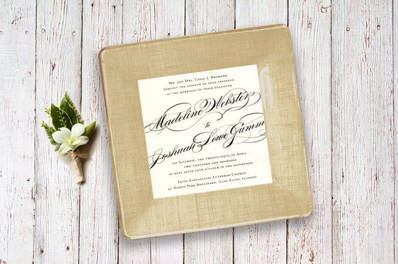 Unique Wedding Gift Wedding Invitation Keepsake Gift Idea Etsy