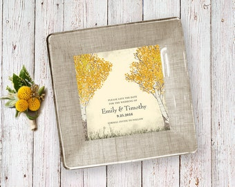 Fall Wedding Gift Wedding Invitation Keepsake For Couples 1st Anniversary Gift Unique Wedding Gift Idea Decoupage Plate Parents Gift