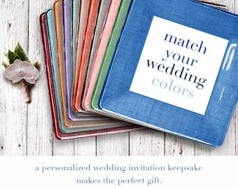 unique wedding gift - invitation plate keepsake - for couples - wedding gift using wedding invitation - personalized - match wedding