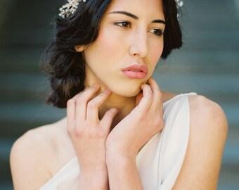 Bridal Crown, Crystal Astilbe Flower Crown, Crystal Crown, Bridal Headpiece, Bridal Halo - Style 3715