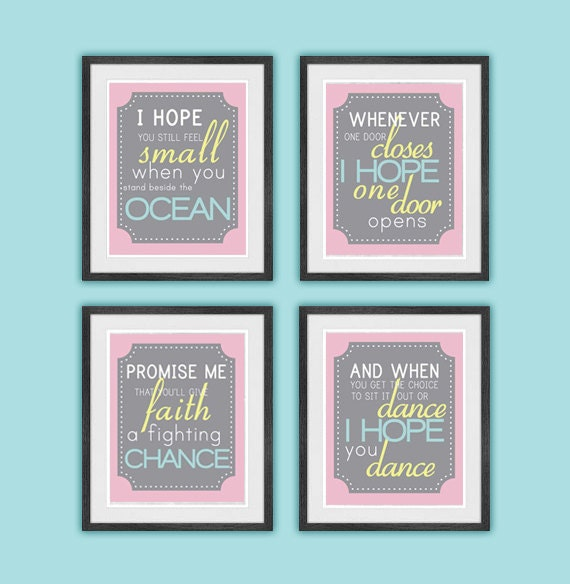 Girly Bedroom Items: Items Similar To I Hope You Dance