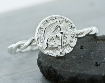 Gemini Ring, Zodiac Ring, Gemini Jewelry, Horoscope Jewelry, Zodiac Jewelry, Horoscope Ring, Astrology Ring, Twin Ring, June Zodiac Sign