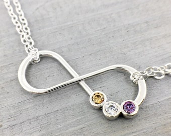 Infinity Anklet Jewelry-Mother/'s Birthstone Jewelry-Birthstone Infinity Anklet-Mothers Birthstone Anklet-Mother\u2019s Day Gift-Grandmothers Gift