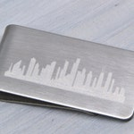 Chicago Skyline Money Clip, Personalized Money Clip, Engraved Money Clip, Groomsmen Gift, Custom Money Clip, Gift for Him, Father's Day Gift