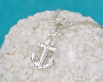 Anchor Necklace - Sterling Silver Anchor -  Anchor Pendant - Nautical Jewelry - Anchor Necklace  - Anchor Jewelry, Gift For Her