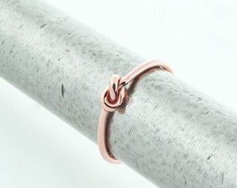 Love Knot Ring, Rose Gold Filled Love Knot Jewelry, Rose Gold Knot Ring, Friendship Ring, Knotted Ring, Promise Ring, Gift For Her