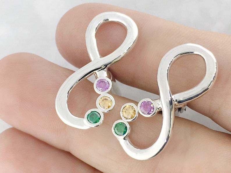 Wedding Gift Groom Gift Birthstone Cufflink Gemstone Cufflink Infinity Cufflinks