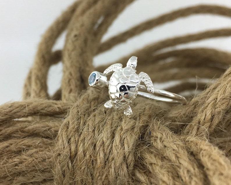 Sea Turtle Ring Birthstone Jewelry July Birthstone Ring Turtle Jewelry Personalized Ring Red Stone Ring