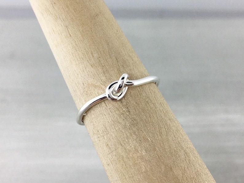 Promise Ring Love Knot Ring Friendship Ring Silver Knot Ring Knotted Ring Silver Love Knot Jewelry Gift For Her