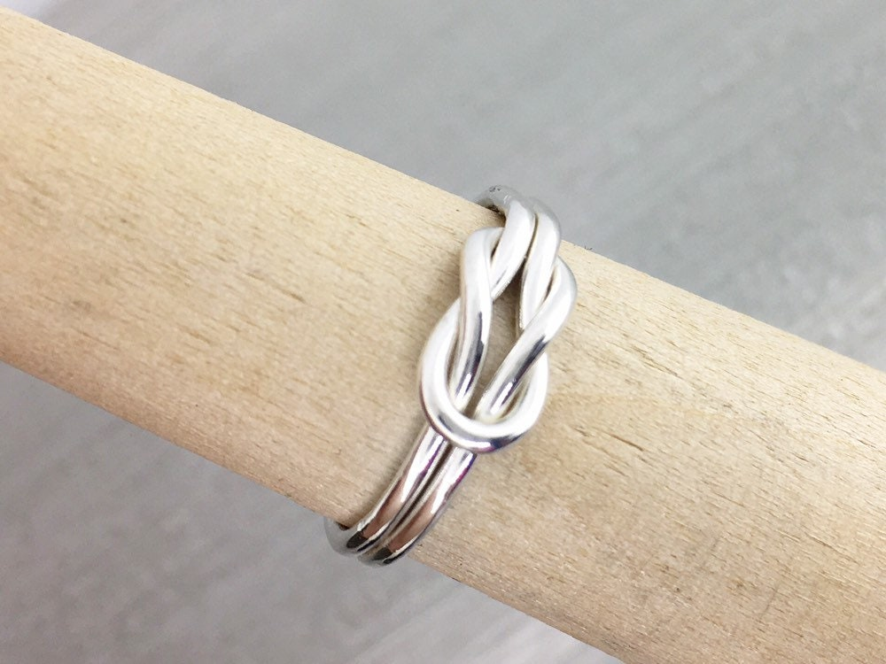 1dc78684f9851 Infinity Knot Ring, Knot Promise Ring, Thumb Ring, Love Knot Ring, Silver  Ring, Double Infinity Knot Jewelry, Love Ring, Gift For Her