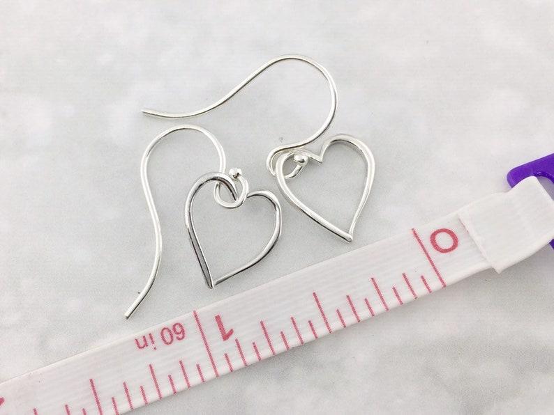 Heart Earrings Valentine/'s Day Gift Heart Dangles Heart Jewelry