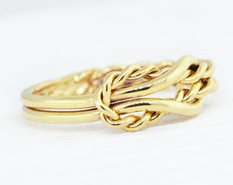 10K Yellow Gold Ring, Yellow Gold Promise Ring, Yellow Gold Ring, 10K Gold Ring, Infinity Knot Jewelry, Engagement Ring, Gift For Her