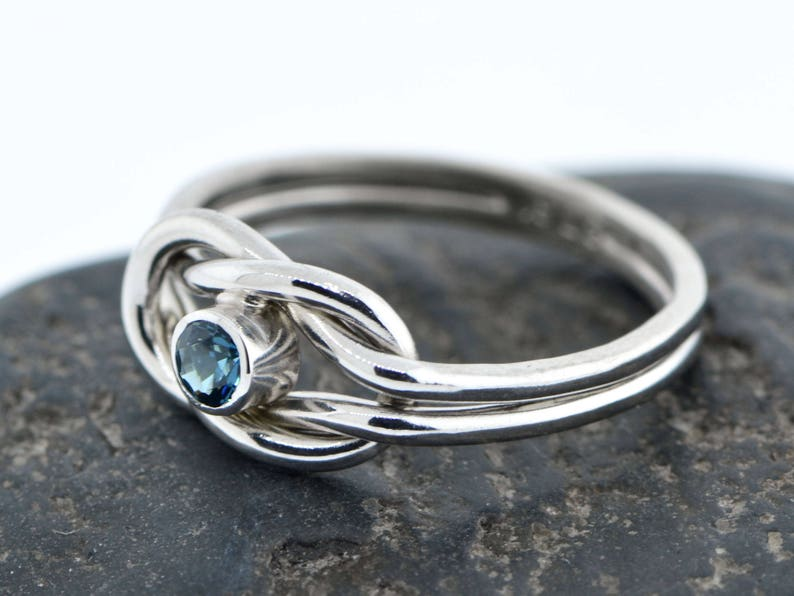 9107e580f5dfe December Birthstone Ring, Knot Promise Ring, Friendship Ring, Infinity Knot  Birthstone, Blue Birthstone Ring, Gift For Her