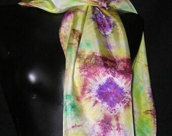 "Hand Dyed Silk Scarf 14"" x 72"""
