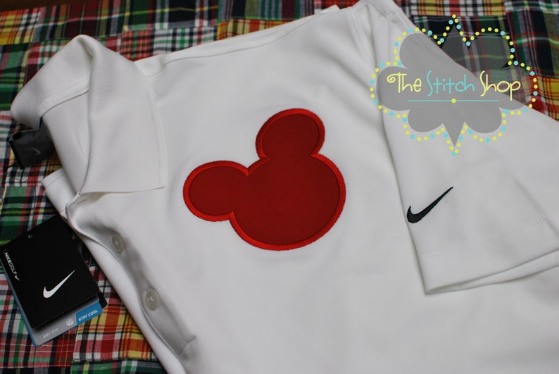 96ec8a4f Men's Nike Dri Fit Mickey Appliqued and Monogrammed Polo | Etsy