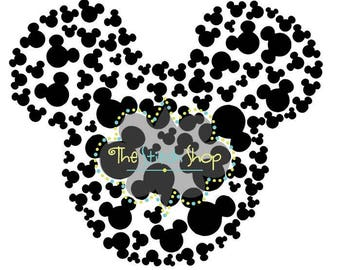 100 Mickey Silhouette and SVG file