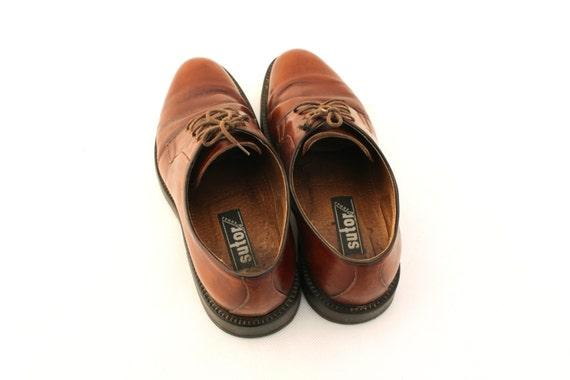 Vintage shoes, Brown Leather Mens Shoes, Men's Sh… - image 5