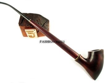 """Wooden Smoking Tobacco pipe Churchwarden Lord Wood """"Tree"""" Smoking  Wooden pipe Special Designed for Pipe Smokers"""