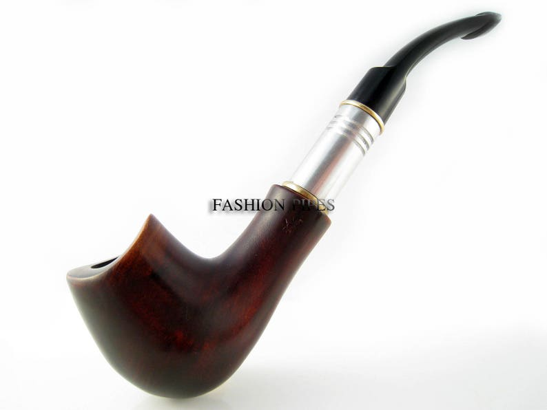 Collection Wooden Smoking Pipe-Tobacco pipepipes Handcrafted Exclusive Design Wooden Pipe Wood pipe SADDLE METAL /& Pouch Gift