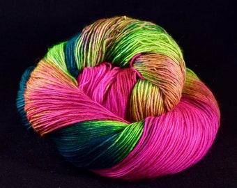 Hand dyed sock yarn - HUMMINGBIRD - Spring Summer 2018 Collection