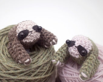 sloth amigurumi pattern - crochet  animal pattern