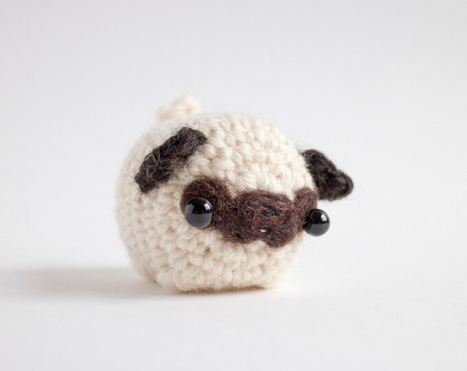 Featured listing image: pug plush toy - miniature pug lover gift