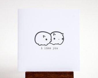 i like you - mini love bugs card