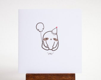 yay sloth greeting card