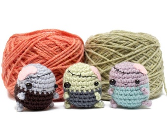 zombie crochet pattern - Halloween amigurumi zombie doll pattern