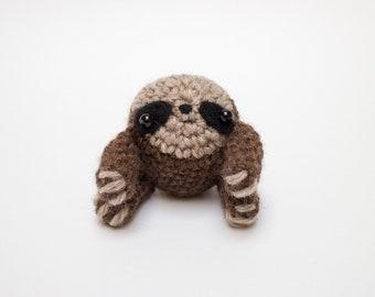 sloth stuffed animal - cute crochet amigurumi plush toy for animal lovers