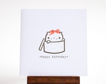 happy birthday cat card for cat lovers