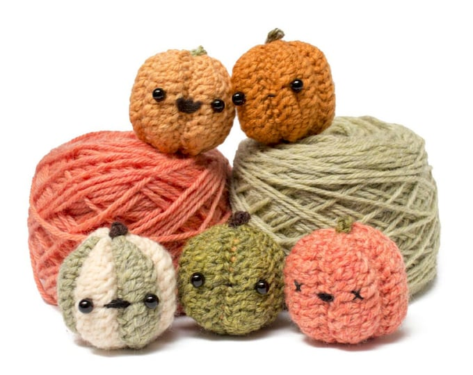 Featured listing image: crochet pumpkin pattern - amigurumi Halloween crochet pattern downloadable pdf
