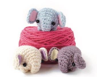 crochet elephant pattern - easy amigurumi pattern