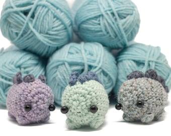 crochet stegosaurus amigurumi pattern - dinosaur toy pattern