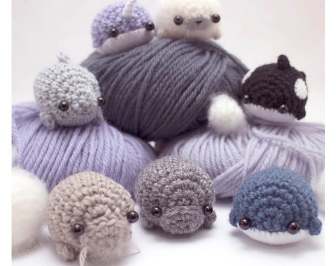 Featured listing image: amigurumi pattern - sea creatures crochet pattern ebook