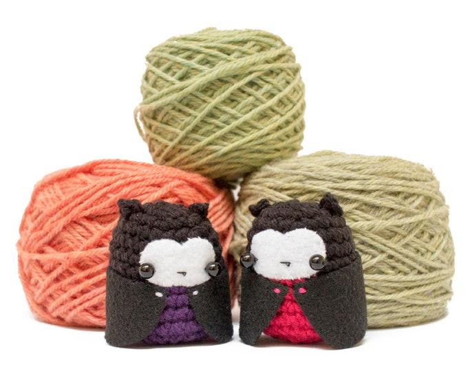 Featured listing image: vampire crochet pattern - easy amigurumi Halloween crochet pattern for vampire doll