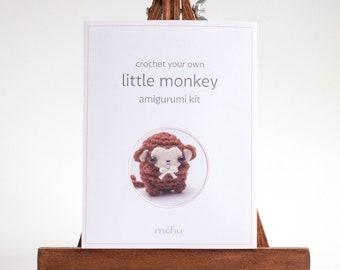 SALE crochet kit - amigurumi monkey diy craft kit