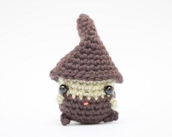 crochet witch doll - amigurumi witch plush toy
