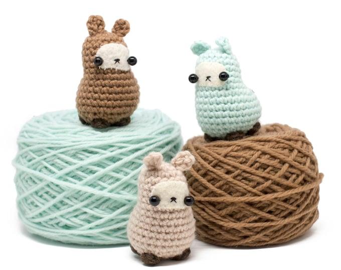 Featured listing image: amigurumi llama pattern - easy crochet toy pattern