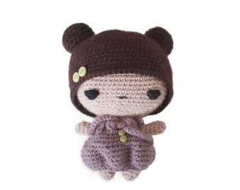 Amigurumi doll crochet pattern - downloadable pdf doll tutorial