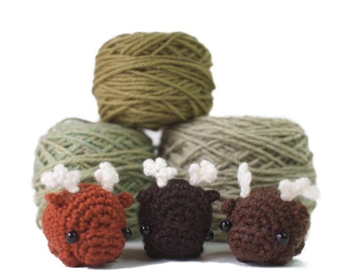 Featured listing image: crochet moose pattern - amigurumi moose toy pattern