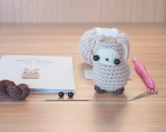 crochet kit - amigurumi llama diy craft kit
