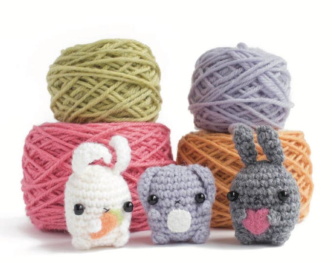 Featured listing image: amigurumi bunny pattern - crochet animal pattern