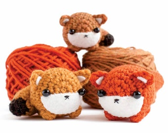 crochet fox pattern - amigurumi animal downloadable pdf crochet pattern