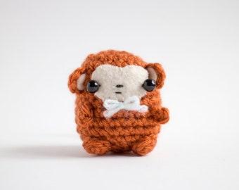 amigurumi monkey plush - crochet monkey stuffed toy