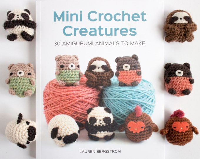 Featured listing image: Amigurumi Pattern Book - Mini Crochet Creatures: 30 Amigurumi Animals to Make